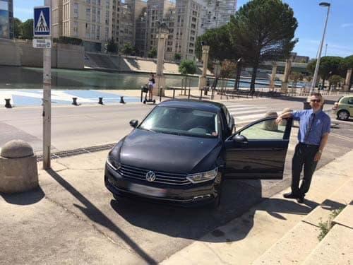 Transport de personnes véhicule VTC à Montpellier en Volkswagen Passat