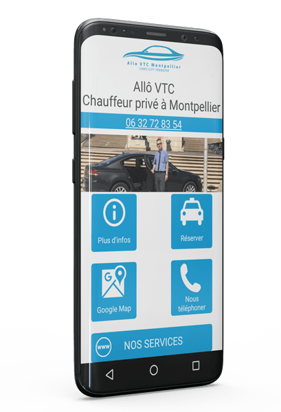 Application Android de votre VTC à Montpellier