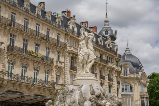 Circuit touristique a Montpellier en VTC